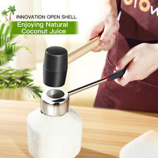 Stainless Steel Coconut Shell Opener Puncher Tool Hammer Kit Kitchen Gadgets DFG