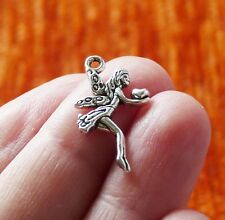 10x Angel Charms for Bracelet Fairy Heart Pendant Necklace Supplies Silver Tone