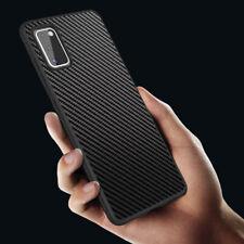 Hülle Carbon für Samsung Galaxy A12 A21s A41 A42 Handy Schutz Schwarz + 2x Folie