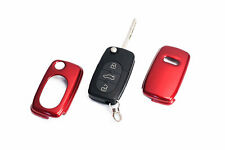 Early Audi Remote Flip Key Cover Case Skin Shell Cap Fob Protection S Line Red -
