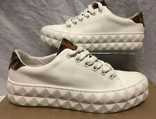 Asos Blanco Cuña de verificación de impresión a cuadros Zapatilla Zapato Talla 4 UE 36.5