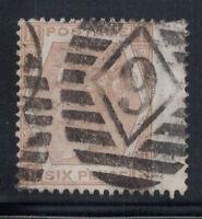 Großbritannien 1872 Mi. 38 Gestempelt 100% 6 Pence, Sieg, Ich, H.