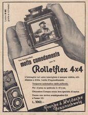 Z4059 Macchina fotografica Rolleiflex 4 x 4 - Pubblicità d'epoca - 1931 old ad