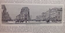 Western Inland States, Business Centre Minneasota, 1882 Antique Print, Original