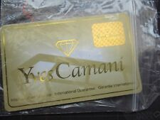 yves camani  guarantee card......nos