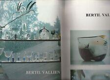 Coupure de Presse Clipping  Bertil Vallien (artisan verrier suédois)