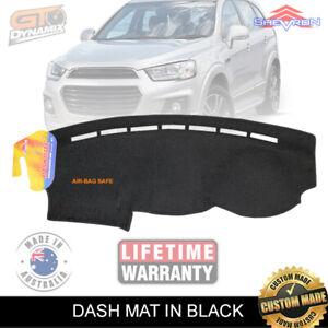 DASH MAT HOLDEN CAPTIVA CG LS LT LTZ 1/2016-Current Airbag-Safe BLACK DM1431