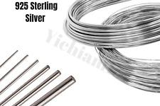 925 Sterling Silver wire Dead Soft Round 16 18 20 22 24 26 28 30 32-Gauge
