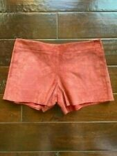 NWT Tory Burch Suede Shorts Brick Color Size 4 with Pockets Originally $398