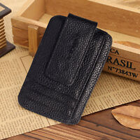 Men's Leather Bifold Wallet ID Card Holder Cash & Coins Pocket Money Clip Purse