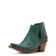 """Ariat 10027280 Women's Agate Green 6"""" Slip On Dixon Cowgirl X Toe Western Boots"""