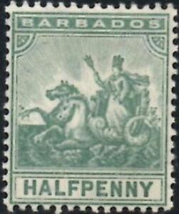 Barbados 1905 Edward VII  1/2d Green  SG.136 Mint (Hinged)