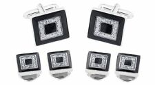 DIAMOND DUST CUFFLINKS AND STUDS !!MANUFACTURERS DIRECT PRICING!!