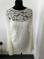 BNWT WOMENS ABERCROMBIE & FITCH CREAM LACE TOP BLOUSE XS RRP $58 or short dress