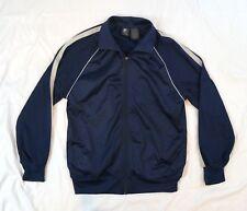 Vintage 90's Starter Warm Up Mens Full Zip Jacket Size Small 34-36 Navy Blue