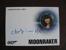 James Bond Archives Spectre Autograph Card A295 Christina Hui in Moonraker