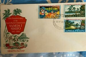 Samoa / Samoa I Sisifo 21st Ann of the South Pacific Commission First Day Cover