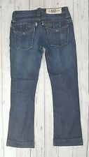 Taverniti Rose Clam Digger distressed cropped flare ankle cuffed jeans SZ 24 L26