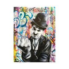 """Oeuvre Pop Art sur toile imprimée """"Charlie Chaplin fuck you"""" 60x80"""