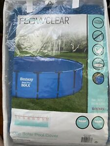 Bestway 18 Foot Round Above Ground Swimming Pool 🔥 Solar Heat Cover 🌞