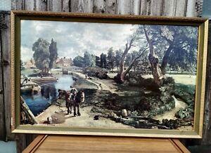 "Reproduction John Cunstable Framed Oil Print "" Flatford Mill "" - 73 x 48"