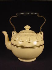 RARE 1860s NEW OXFORD OHIO SHELL TEAPOT YELLOW WARE