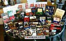 Schrade Knife Collection Warren Whittler,Tradesmen Set,LB8 Knives Scrimshaw Sets