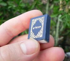 "1"" BOOK of PSALMS Jewish Hebrew Tehilim Bible Songs Hymns Tehillim Judaica Charm"