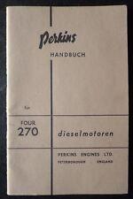 Perkins 4.270 D Dieselmotor Handbuch