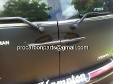 1set of Rear carbon fiber Door handle cover for Clubman R55 JCW Cooper S SD