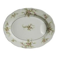 """Theodore Haviland Rosalinde 14"""" Oval Serving Platter with well New York USA"""