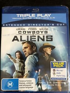 Cowboys & Aliens Blu Ray + DVD  Brand New & Sealed Extended Director's Cut