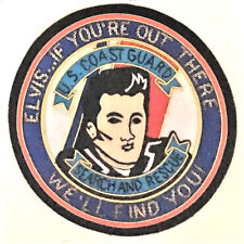 "Uscg Us Coast Guard Patch ""Elvis if you're out there we'll find 5 in #3792"