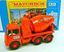 MATCHBOX Kingsize k-13a Readymix CONCRETE TRUCK TOP IN BOX