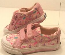 KEDS Hello Kitty Springtime Velcro Pink Canvas Sneaker Shoes Toddler Girls 7M