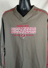 Mens 2XL Tampa Bay Buccaneers Grey Cotton Jersey NFL LS Embroidered Chest Detail