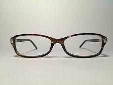 Ellen Tracy Eleni 53[]15 135 Havanna Oval Brillengestell Brille frame lunette