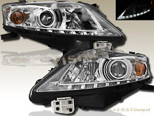 Fit For  2010-2012 Chrome Housing Lexus RX350 Projector Headlights w/ LED Strip