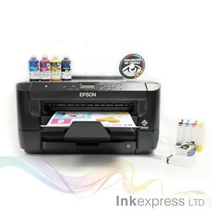 None OEM A3+ Dye Sub Sublimation Printer Epson WF-7210 + CISS + Ink + A3 Papers
