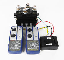 12v HD Contactor  winch control solenoid TWIN Wireless Remote Suit recovery 4x4