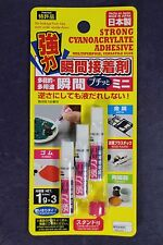 LOT DE 3 TUBE DE COLLE CYANOACRYLATE MAXI GLUE MULTIPURPOSE MADE IN JAPAN