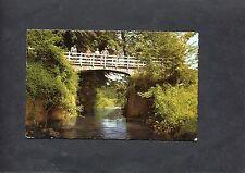 View Of A Bridge Over The River Geul, Valkenburg, Netherlands. Postmark 1964.
