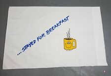 "vintage novelty pillowcase ""stayed for breakfast"" adult humor 80s kitsch"