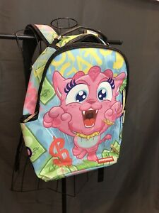 Sprayground Backpack Faux Leather Pink Kitten on the Run Limited Edition EUC