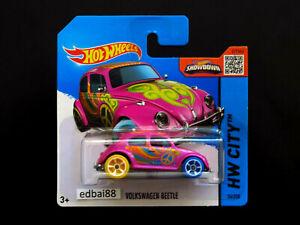 Hot Wheels 2015 Mainline Volkswagen Beetle Treasure Hunt Die-cast Car Short Card