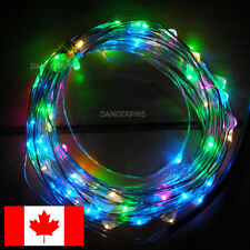 10 metre LED fairy lights string wire. RGB pink white - 33ft - USB Powered cute