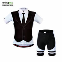 Men's Cycling kit Short sleeve jerseys shorts set Bike clothing Bicycle padded