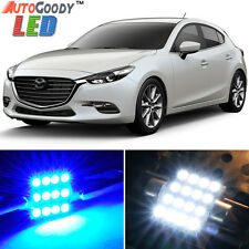 8 x Premium Blue LED Lights Interior Package Kit for 2010-2017 Mazda 3 + Tool