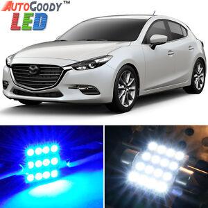 8 x Premium Blue LED Lights Interior Package Kit for 2010-2018 Mazda 3 + Tool
