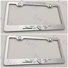 2X 3D SRT 8 Dodge Jeep Emblem Stainless Steel License Plate Frame Rust Free